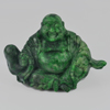 346.33 Ct. Natural Gem Multi-Color Green Jade Smile Buddha Carving Unheated