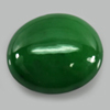 Unheated 2.41 Ct. Natural Gemstone Green Color Jade Oval Cabochon 9.5 x 8.6 Mm.