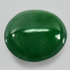Unheated 2.56 Ct. Natural Gemstone Green Color Jade Oval Cabochon 9.4 x 8.5 Mm.