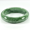 375.61 Ct. Natural Gemstone Green Jade Bangle Size 75 x 60 x 12 Mm. Unheated