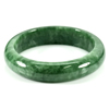 325.72 Ct. Natural Gemstone Green Jade Bangle Size 74 x 58 x 14 Mm. Unheated