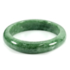 Unheated 301.65 Ct. Natural Gemstone Green Jade Bangle Size 75 x 57 x 13 Mm.