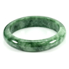 Unheated 307.56 Ct. Natural Gemstone Green Jade Bangle Size 73 x 57 x 13 Mm.