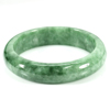 Unheated 325.20 Ct. Natural Gemstone Green Jade Bangle Size 75 x 57 x 14 Mm.