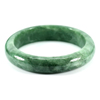 309.14 Ct. Natural Gemstone Green Jade Bangle Size 75 x 58 x 14 Mm. Unheated