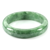 237.39 Ct. Natural Gemstone Green Jade Bangle Size 68 x 52 x 12 Mm. Unheated