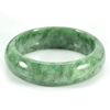 307.33 Ct. Natural Gemstone Green Jade Bangle Size 77 x 57 x 15 Mm. Unheated