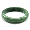 Unheated 341.52 Ct. Natural Gemstone Green Jade Bangle Size 75 x 58 x 15 Mm.