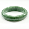 Unheated 263.56 Ct. Natural Gemstone Green Jade Bangle Size 72 x 57 x 13 Mm.