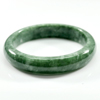Unheated 347.74 Ct. Natural Gemstone Green Jade Bangle Size 75 x 58 x 16 Mm.