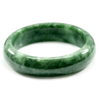 381.16 Ct. Natural Gemstone Green Jade Bangle Size 78 x 60 x 16 Mm. Unheated
