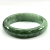 302.49 Ct. Natural Gemstone Green Jade Bangle Size 67 x 52 x 16 Mm. Unheated