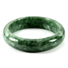 264 Ct. Natural Gemstone Green Color Jade Bangle Size 70 x 57 x 13 Mm. Unheated