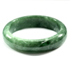 321.54 Ct. Natural Gemstone Green Jade Bangle Size 75 x 58 x 14 Mm. Unheated