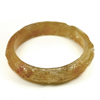 256.86 Ct. Natural Gem Honey Brown Jade Bangle Dragon Carving Size 84x65x15 mm.
