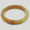 213.30 Ct. Natural Gem Honey Brown Jade Bangle Dragon Carving Size 80x65x13 mm.