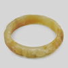 260.14 Ct. Natural Gem Honey Brown Jade Bangle Dragon Carving Size 80x65x13 mm.