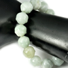 285.90 Ct. Natural Gem Green Jade Beads Flexibility Bracelet Carving 8 Inch.