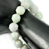 291.17 Ct. Natural Gem Green Jade Beads Flexibility Bracelet Carving 8 Inch.