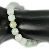 152.71 Ct. Natural Gem Green Jade Beads Flexibility Bracelet Carving 7 Inch.