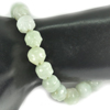 152.42 Ct. Natural Gem Green Jade Beads Flexibility Bracelet Carving 7 Inch.