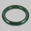 386.05 Ct. Round Cabochon Natural Gemstone Green Jade Bangle Diameter 60 Mm.