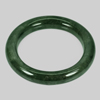 402.90 Ct. Round Cabochon Natural Gemstone Green Jade Bangle Size 80x61x13 Mm.