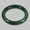 405.48 Ct. Round Cabochon Natural Gemstone Green Jade Bangle Size 80x60x13 Mm.