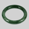 370.20 Ct. Round Cabochon Natural Gemstone Green Jade Bangle Size 80x60x12 Mm.
