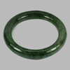 386.92 Ct. Round Cabochon Natural Gemstone Green Jade Bangle Size 80x60x13 Mm.