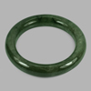 Unheated 417.82 Ct. Round Cabochon Natural Gem Green Jade Bangle Diameter 60 Mm.
