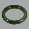 423.44 Ct. Round Cabochon Natural Gemstone Green Jade Bangle Size 80x60x13 Mm.