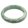 364 Ct. Size80x64x14Mm. Natural Gemstone White Green Jade Bangle Unheated