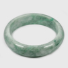 Unheated Gemstone 364 Ct. Natural Green White Jade Bangle Size 77 x 60 x 16 Mm.