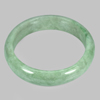 Unheated 405.57 Ct. Natural Gemstone Green White Jade Bangle Diameter 65 Mm.