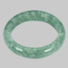 Unheated 413.58 Ct. Natural Gemstone Green White Jade Bangle Diameter 62 Mm.