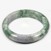 Unheated 396.03 Ct. Natural Gemstone Multi-Color Jade Bangle Size 80x63x15 Mm.