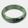Unheated Gemstone 389 Ct. Natural Green Jade Bangle Size 76 x 60 x 17 Mm.