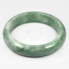 Unheated 339 Ct. Natural Gemstone White Green Jade Bangle Size75x60x15Mm.