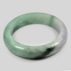 464 Ct. Size80x61x16Mm. Natural Gemstone Multi-Color Jade Bangle Unheated
