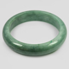 414 Ct. Size80x63x15Mm. Natural Gemstone Green Color Jade Bangle Unheated