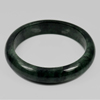 364 Ct. Size80x65x15Mm. Natural Gemstone Gren Black Jade Bangle Unheated