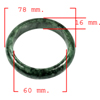 374.81 Ct. Natural Gemstone Green Black Jade Bangle Size 78 x 60 x 16 Mm.