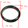 296.73 Ct. Natural Gemstone Green Black Jade Bangle Size 80 x 65 x 15 Mm.