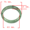 Unheated 347.91 Ct. Natural Gemstone Green Color Jade Bangle Size 75x60x15 Mm.