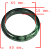 380.02 Ct. Natural Gemstone Green Black Jade Bangle Size 80 x 65 x 15 Mm.
