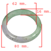 429.73 Ct. Natural Gemstone Multi-Color Jade Bangle Size 80x62x16 Mm.