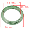 Unheated 408.58 Ct. Natural Gemstone Green Color Jade Bangle Size 80x63x15 Mm.
