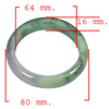 Unheated 410.74 Ct. Natural Gemstone Multi-Color Jade Bangle Size 80x64x16 Mm.