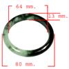 Unheated 308.90 Ct. Natural Gemstone Green Black Jade Bangle Size 80x64x13 Mm.